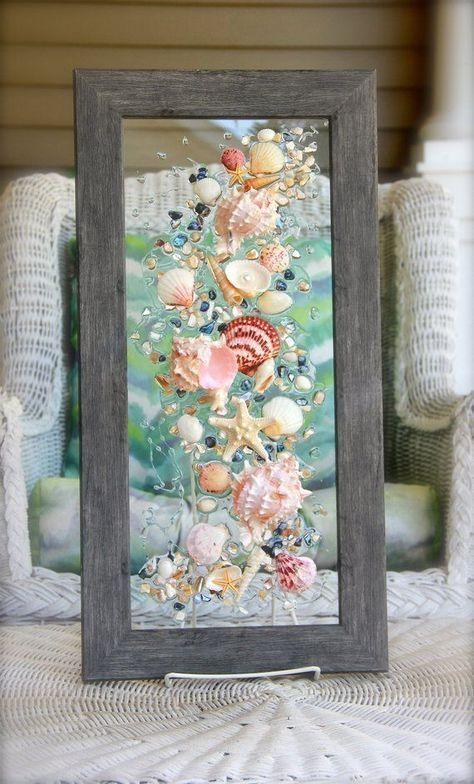 Seashell Crafts For Bathroom Beach Bathroom Decor Wall Hanging