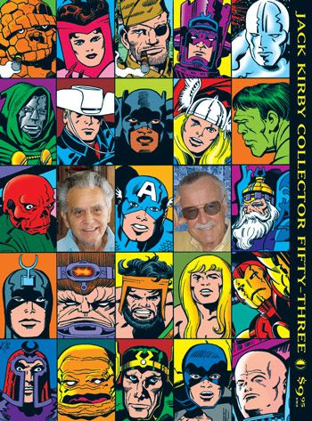 "Jack Kirby & Stan Lee ~Co-Creators of The Silver Age , and The Genius of the Marvel universe~~cover from ""The Jack Kirby Collector"" magazine"