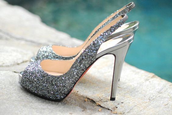 sparkly shoes which hardly anyone will get to see, but still worth it!