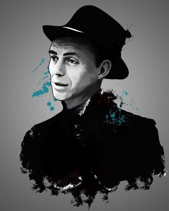 Frank Sinatra, Tinted Style | http://www.yourpainting.de/motive-artikel/frank-sinatra