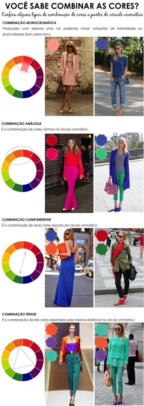 A moda e a combinação de cores ... vale a pena conferir!
