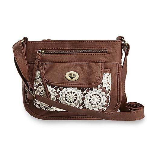 Joe Boxer Women's Mixed Media Crossbody