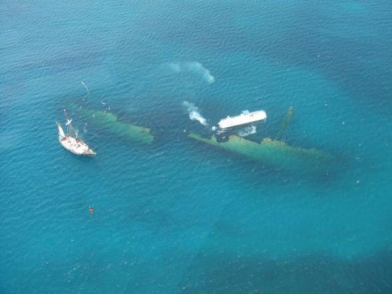 The Antilla shipwreck off the shore of Aruba! Snorkeling here in February!