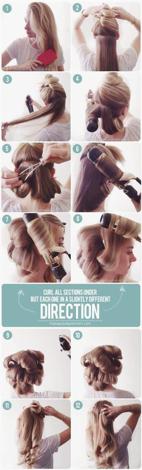 Manucure And Makeup: How To Fake a Blowdry With Curler