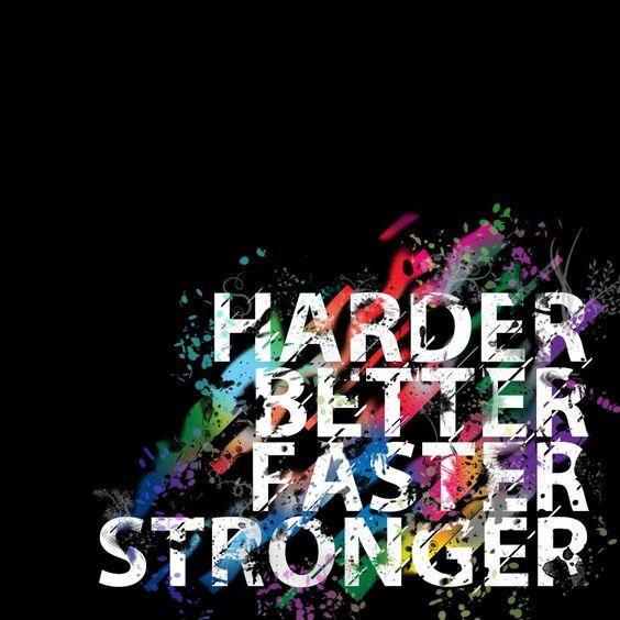 Daft Punk – Harder, Better, Faster, Stronger (single cover art)