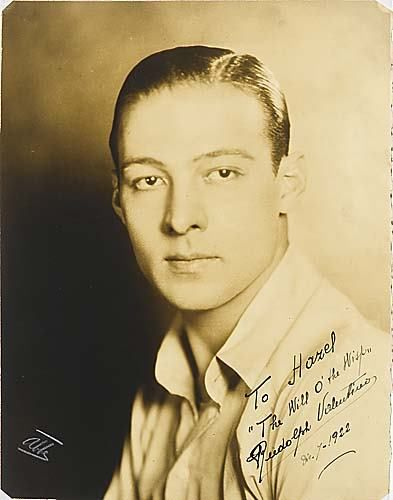 Rudolph Valentino, known as the Latin Lover.