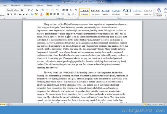 apa paper format conclusion