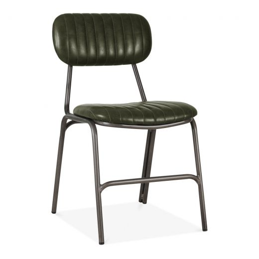 Pin By Margaret Cowan On Dining In 2020 Metal Dining Chairs Green Leather Chair Faux Leather Dining Chairs