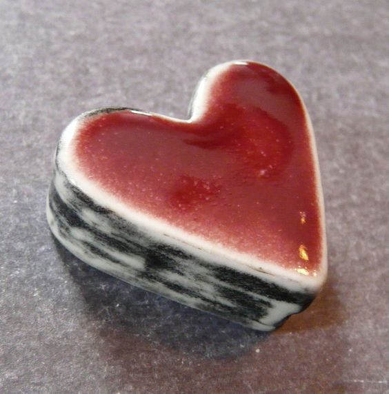 Hollow Double Sided Box Bead in Crimson