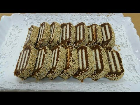 حلاوة التمر بالبسكويت والسمسم حلويات رمضان سهلة ولذييييذة Youtube