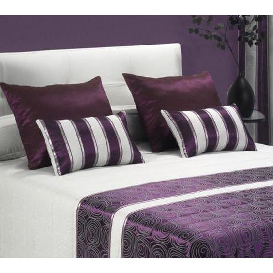 Cojines dormitorio lisos y rallados cojines dormitorio - Cojines grandes para cama ...