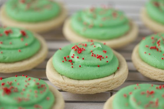 Grab your holiday cookie cutters and get busy on these wonderful cookies!!!  The kids will enjoy making these cookies as much as they like eating them! YUM!  Use your favorite icing, frosting, or glaze on them, then decorate or sprinkle some jimmys or holiday sprinkles or candies on them!  You can make these for any holiday party, but they are good anytime!  ALSO:  A trick I learned when doing sugar cookies, is to flour your cookie cutters if you notice the dough starting to stick to them…