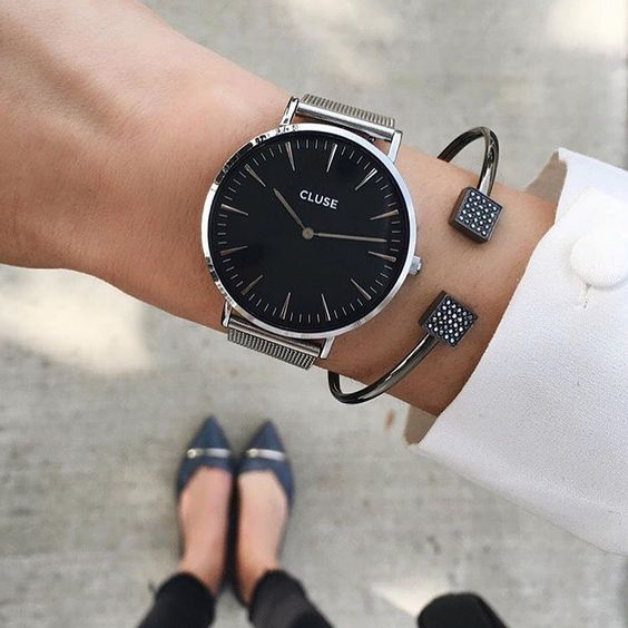Elegance by @thriftsandthreads for @clusewatches: