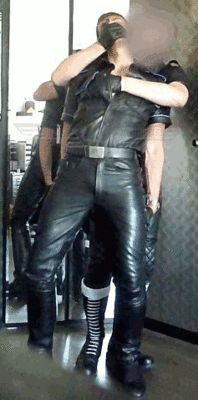 ourwbleather64you:  boysarewelluddered:  nickbond30:  Glove Over Mouth  leg between thighs  DAMMM SO HORNY: LEATHER GLOVES SMELL YEAH & LEATHERS RUBBING HARD: LOVE THIS: WANT THIS!!!!!