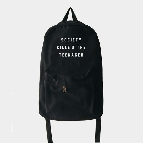 society killed the teenager backpack                                                                                                                                                      More