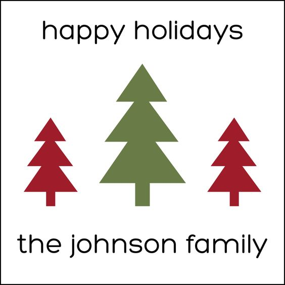 Family of Trees Personalized Holiday Labels by #GothamPops on Etsy
