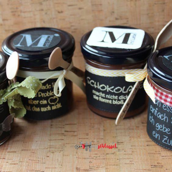 Herzschlüssel: Schokolade macht nicht dick, .............................Stempel, Alexandra Renke, Erlebniswelt, Big Shot, Etiketten, #DIY, selbstgemacht, Thermomix, Schokoaufstrich, Stampin Up