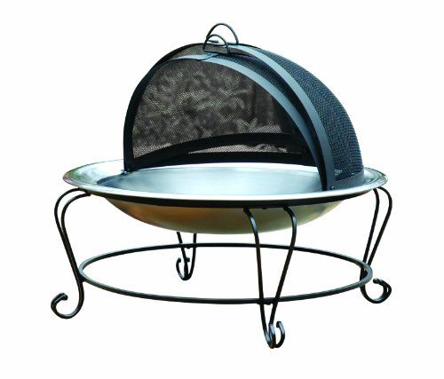 """Char-Broil Stainless Steel Fire bowl, 30"""" - http://www.firepitsoutdoorheaters.com/char-broil-stainless-steel-fire-bowl-30/"""