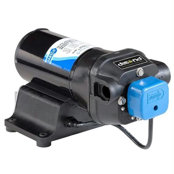 Jabsco V-FLO Water Pressure Pump with Strainer - 5GPM - 12VDC 40PSI