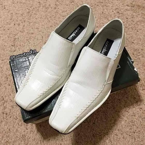 ALDO Men's White Loafer Dress Shoe - 9