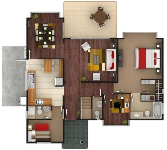 Plano primer piso casa de dos pisos de 137 m2 planos Departamentos de dos pisos