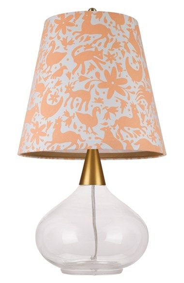Free shipping and returns on cupcakes and cashmere Teardrop Glass Table Lamp at Nordstrom.com. A playful peach-and-white print colors the A-line shade of a retro-chic table lamp with a translucent, teardrop-shaped glass base.