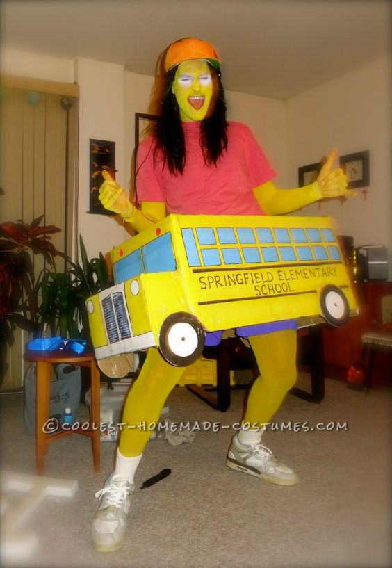 Homemade Simpsons Costume: Otto Featuring Springfield ...