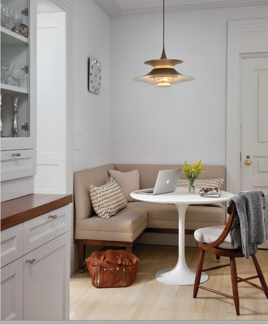 Great use of space for a small eat in kitchen area  interior design client inspiration Pinterest Spaces Kitchens and House