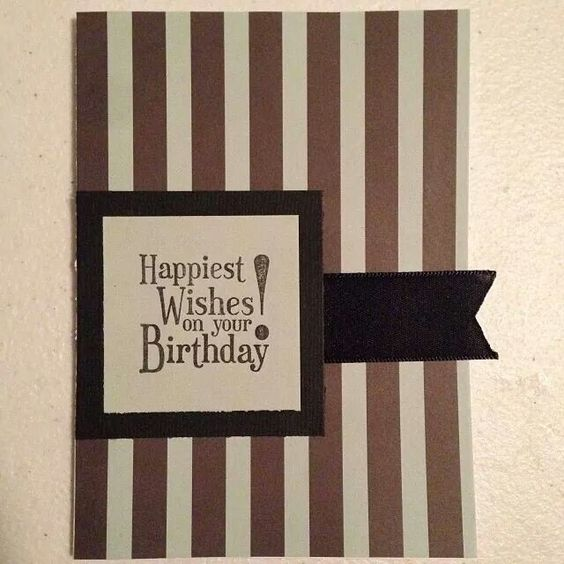 Masculine birthday card. Various and Stampin' Up! supplies.