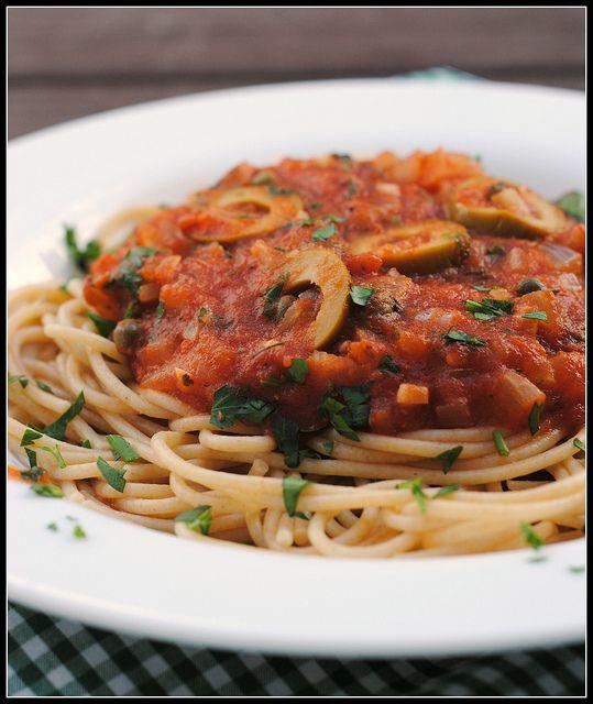 Tomato Olive Spaghetti