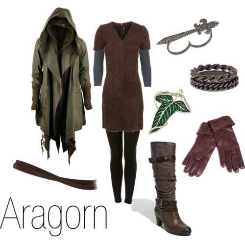 Lord of the Rings inspired outfits. This is possibly the best thing ever. from http://character-inspired-fashion.tumblr.com/