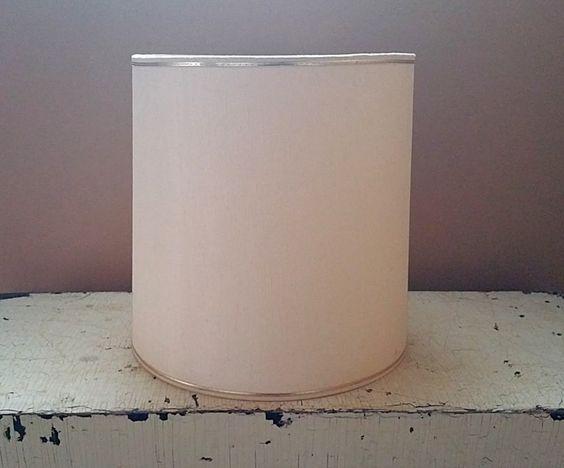 Creamy White Drum Shape 12 Inch  Lampshade Fiberglass Lamp Shade by GladStoneatHome on Etsy