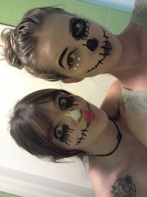 Pintura facial pintura facial pinterest pintura and - Pinturas para halloween ...