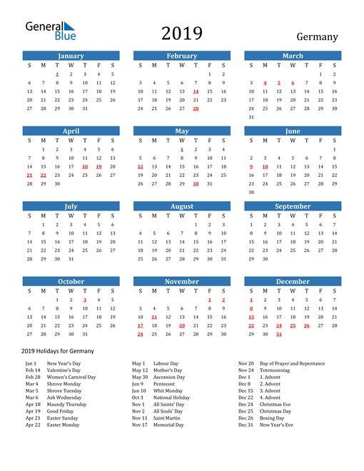 Calendar 2021 Germany Holidays In 2020 Calendar Printable Calendar Calendar Printables