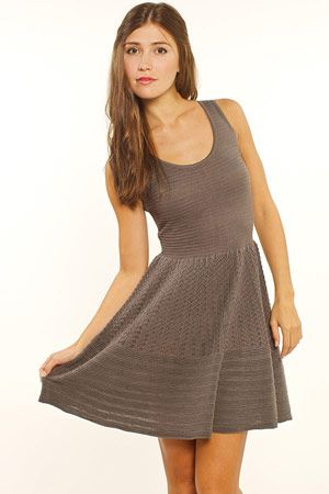 Perfect little knit dress for fall, especially with an oxford underneath and tights!