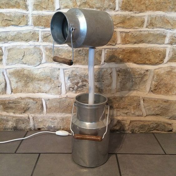 Very Unusual Upcycled / Recycled Floor Light
