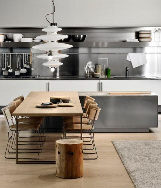 Cocina y muebles: cocina minimalista con una perspectiva ...