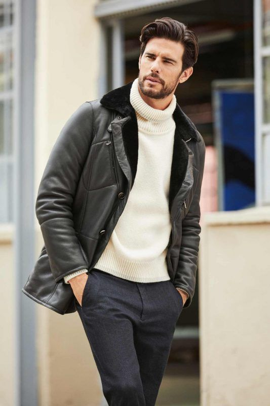 60 Best Ways To Style A Shearling Jacket Shearling Leather Coat