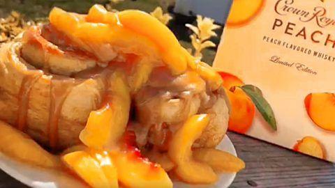 Crown Royal Peach Cobbler Cinnamon Rolls Recipe