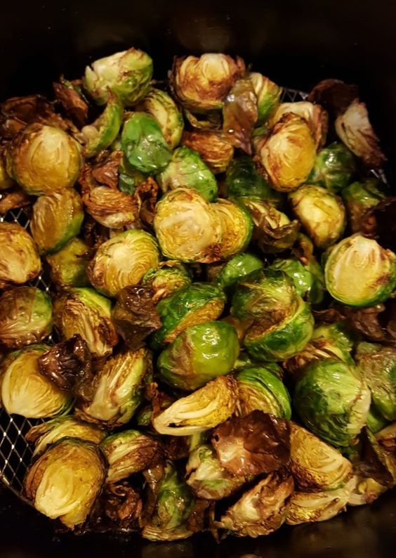 Healthy Air Fried Brussel Sprouts