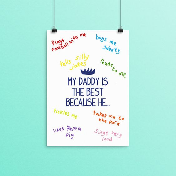 Daddy Fathers Day Print, Personalised Daddy Print, Father's Day Daddy Gift, Daddy Gift, Father Gift, Gift for Daddy, Daddy Birthday Gift
