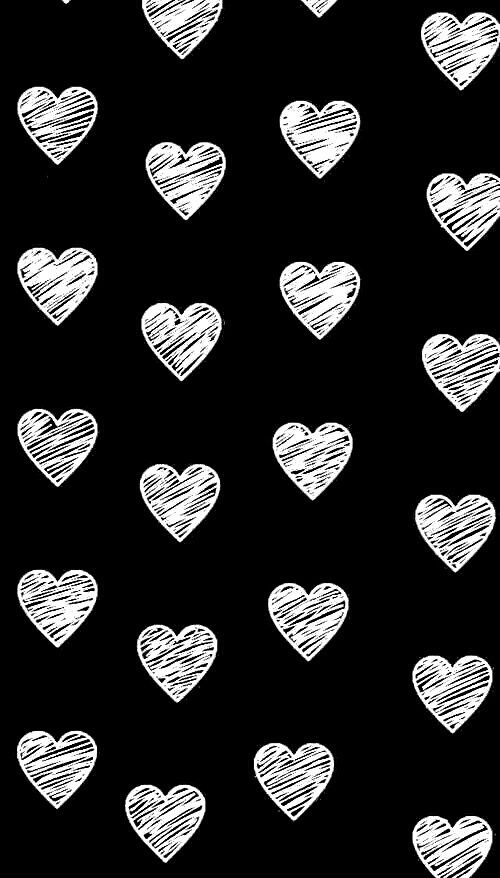 Pin By Sally P On Wallpapers Cute Black Wallpaper Heart Wallpaper Black And White Heart
