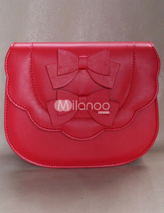 Unspecified Sweet Bow PU Leather Women's Tote Bag - milanoo.com