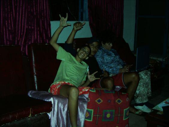 Pablo, Leo, Eliane em casa de Geraldo 2004
