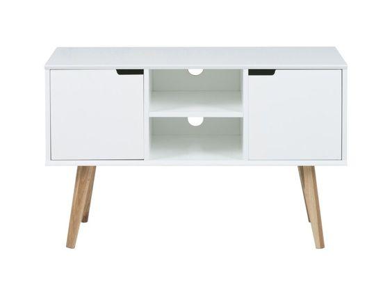 Szafka RTV Mitra I — Szafki RTV Actona — sfmeble.pl  #scandinavian  #style  #interior  #homedesign #furniture #white