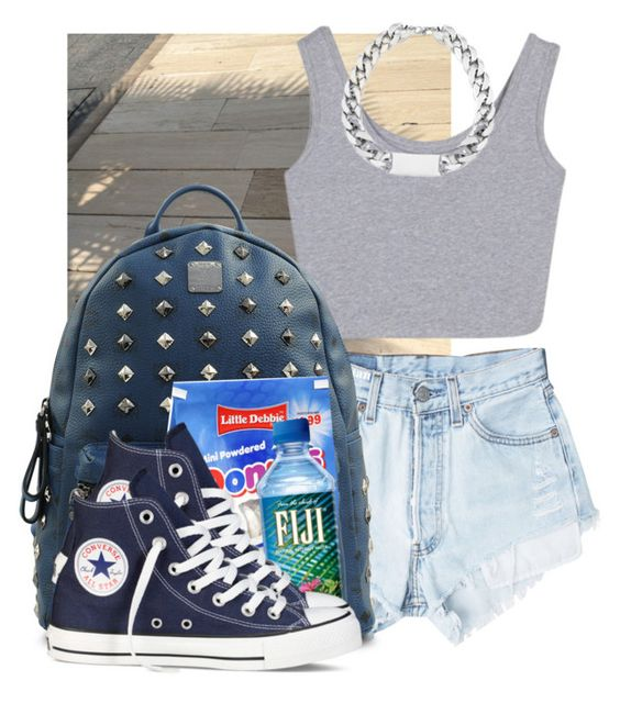 """""""kay"""" by hispeaceprincess ❤ liked on Polyvore featuring BRONTE, Levi's, MCM and Converse"""