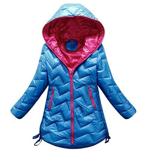 | #Brinny #Mädchen #Winter #Down #Jacke #Parka mit #Kapuze #Zipper #Kragen #Langarm #Mantel-Jacke mit #Kordelzug #Hem, #Blau  #8211; #140