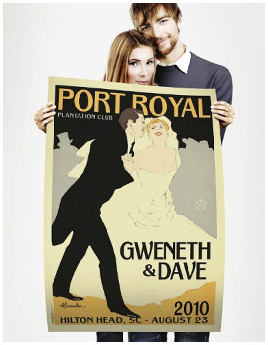 alexander & co. custom vintage wedding posters.