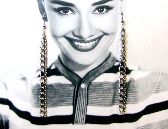 long multi chain dangle earrings by tweek