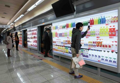 one of the best advertising campaigns! Korea's Tesco uses QR codes so people can shop for groceries in the Subway and have their purchases delivered to their homes